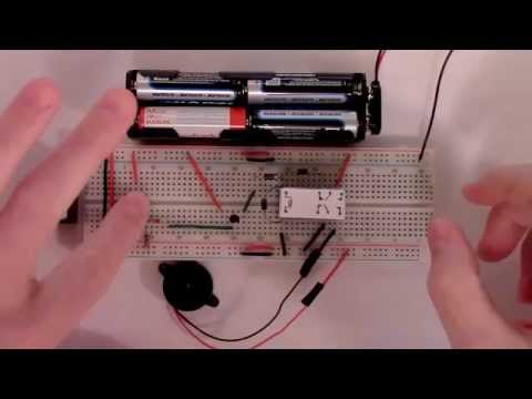 How to Build a Simple Latching Intruder Alarm Circuit with a PNP transistor and DPDT Relay
