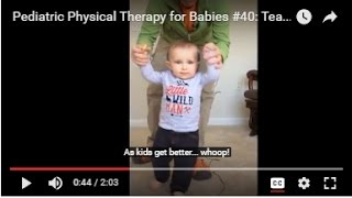 Teaching Walking: Pediatric Physical Therapy for Babies #40