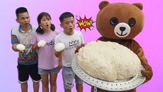 Hưng Troll | Bị Trẻ Trâu Khinh Thường Gấu Lầy Thách Thức Làm Bánh Bao Khổng Lồ Và Cái Kết