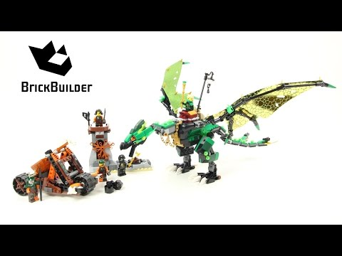 Lego Ninjago 70593 The Green NRG Dragon - Lego Speed build ...