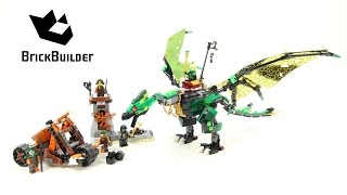 Lego Ninjago 70593 The Green NRG Dragon - Lego Speed build