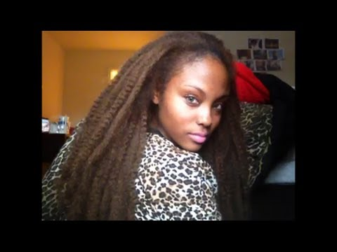 Crochet Hair Using Bobby Pin : MARLEY BRAID CROCHET EXTENSIONS USING BOBBY PIN @MEEKFRO MARLEY ...