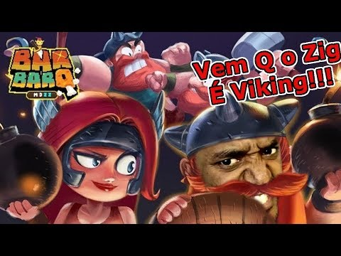 BarBarQ : PvP Mobile Totalmente Frenético!!! VEM QUE O ZIG É Viking!!! Omega Play