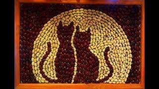 Идеи поделок из круп и семечек. Ideas crafts from cereals and seeds