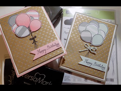 Balloon Celebration Simple Birthday Card | Stampin' Up