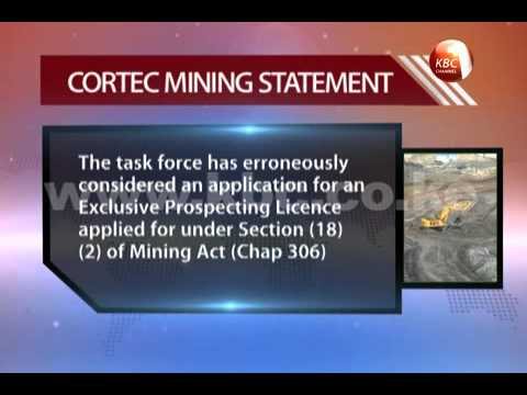 Cortec Mining makes fresh claims on revocation of its licens