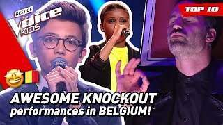 TOP 10 | MOST VIEWED KNOCKOUTS of 2020 in The Voice Kids Belgium 🇧🇪