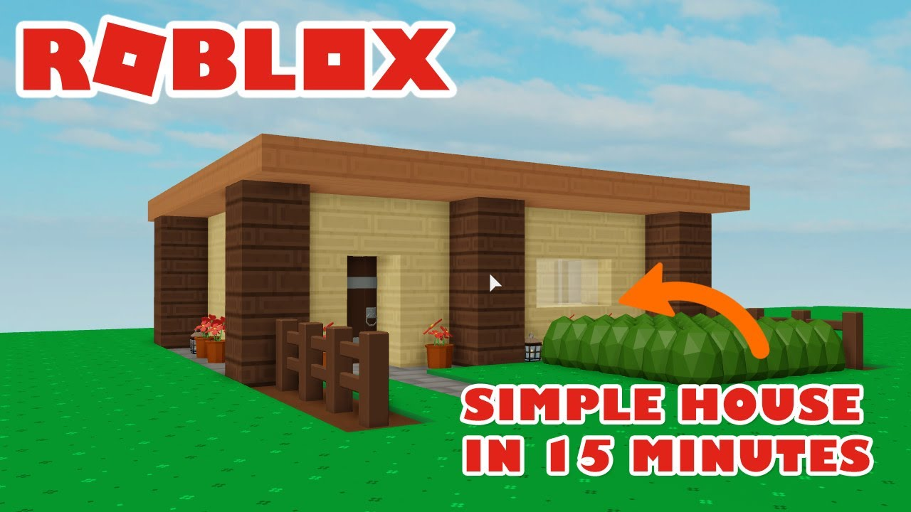 Roblox Skyblock Simple Starter House Build Tutorial Youtube