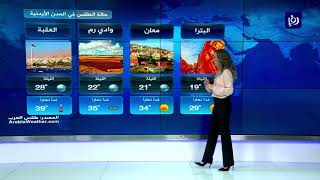 النشرة الجوية الأردنية من رؤيا 21-7-2019 | Jordan Weather