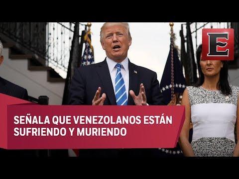 Trump amenaza con intervención militar en Venezuela