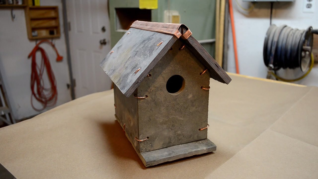 Slate Amp Copper Bird House Youtube