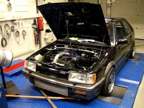 Dyno Mazda 323 1 6i Turbo 4wd Part1 Youtube