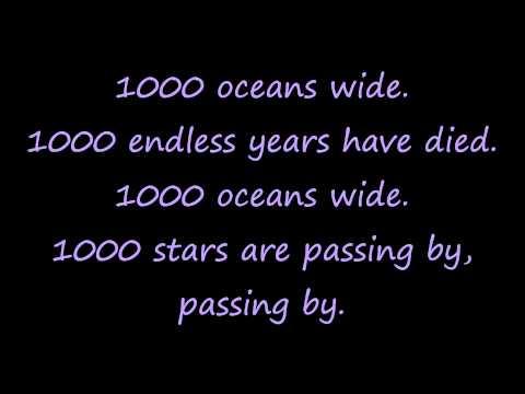 Tokio Hotel - 1000 Oceans(Letra).