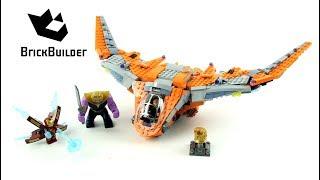 Lego Super Heroes 76107 Thanos Ultimate Battle Lego Speed Build