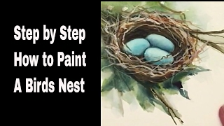 How to paint a Bird