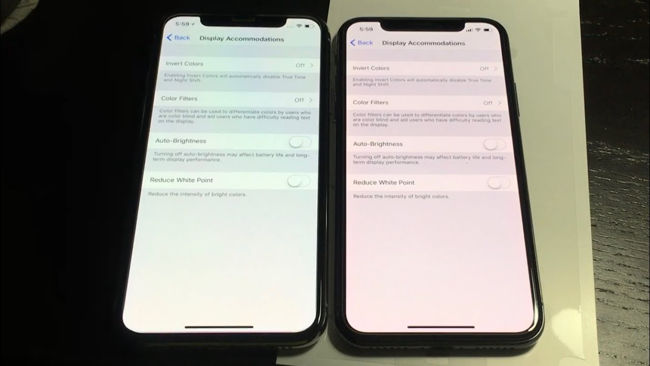 huge selection of d1fea 31fb7 iPhone X OLED different color shift off angle