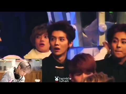 EXO Luhan's reaction to his own drama,sooo funny!