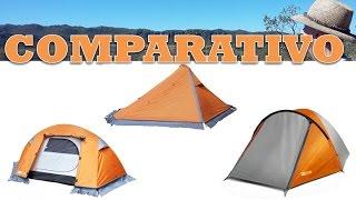 Comparativo das barracas Azteq: Mini pack, Nepal e Katmandu