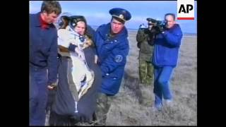 French astronaut lands back on earth