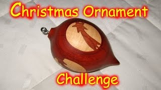 Wood Inlay Ornament - Christmas Ornament Woodturning Challenge / 2. Entry