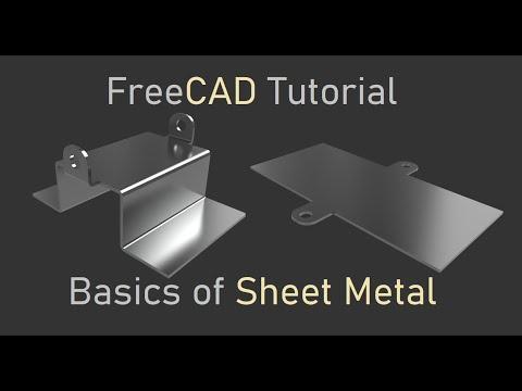 FreeCAD sheet metal environment