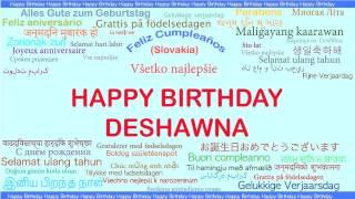 Deshawna   Languages Idiomas - Happy Birthday