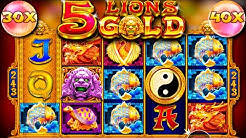 x??? win / 5 Lions Gold free spins compilation!