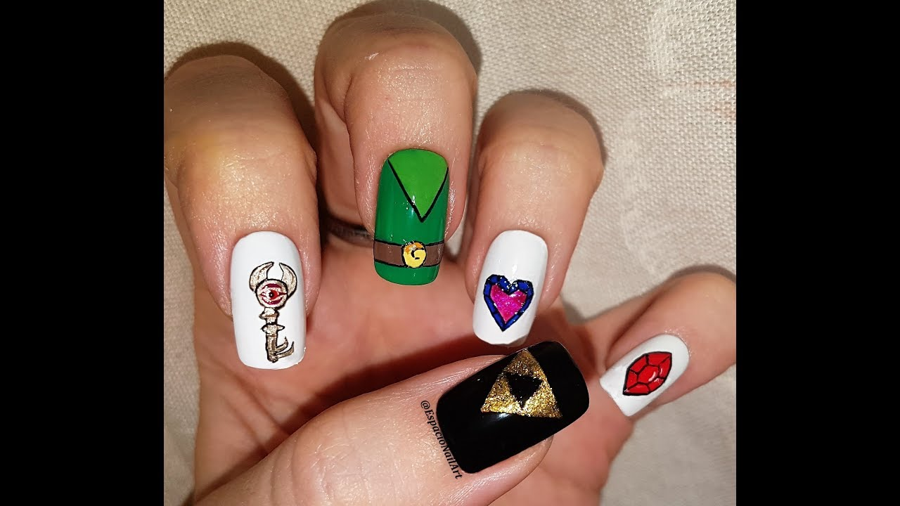 Zelda Nail Art | Gamer Nails - YouTube