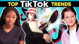 Teens React To Top 5 TikTok Trends (Popcorn Duet, Shoe Transition) Ft. Run The World!