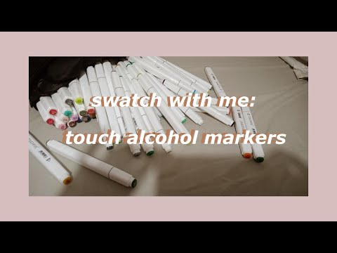 swatch with me: touch new alcohol markers (copic alternative) // philippines
