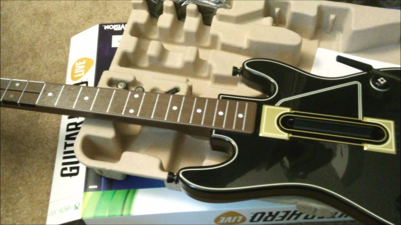 Guitar Hero Live Xbox 360 unboxing - YouTube