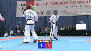 Sparring Senior Male  -85kg Final - ITF World Cup 2016 - Budapest