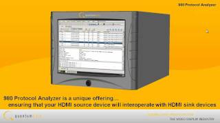 Protocol Analysis of HDMI Source Devices with Quantum Data 980 Protocol Analyzer -