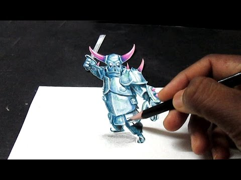 Clash Of Clans P.E.K.K.A 3D ART / DRAWING ILLUSION