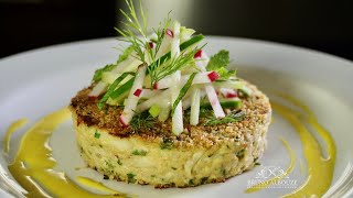 Crab Eggplant Cakes  - Bruno Albouze - THE REAL DEAL
