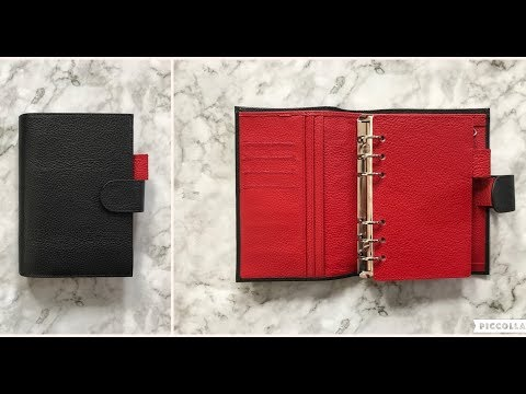 Moterm Planner Litchi Black Red Unboxing | AliExpress
