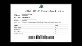 How to check 2018 jamb result? UTME Main Examination Result