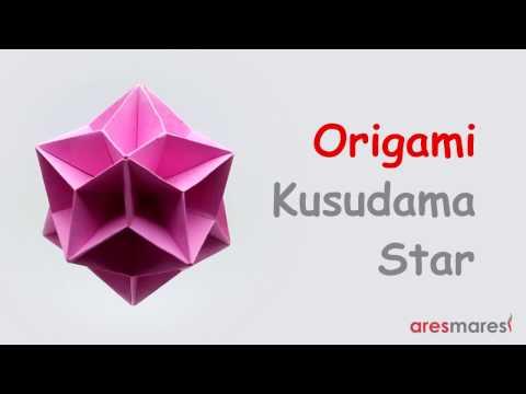 Origami Kusudama Star (intermediate - modular)