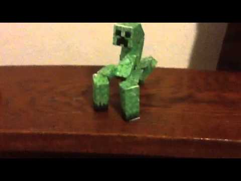 My minecraft papercraft mutant creeper