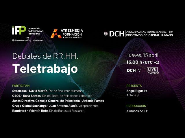 Debates de RR. HH. | Teletrabajo