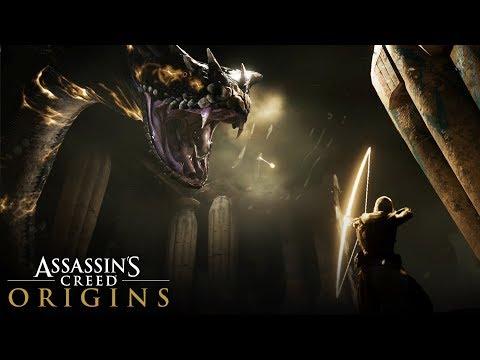 Assassin's Creed Origins - Giant Snake Boss Fight Full Gameplay (Biggest Snake Ever!)
