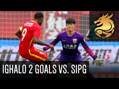Odion Ighalo scores 2 goals for Changchun Yatai! | Changchun Yatai 2 - 1 Shanghai SIPG (HD)