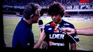 Jogador Berg do Remo cala a boca do reporter do ESPN. Misto, a vergonha do nordeste!!!!