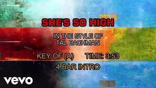 Tal Bachman - She's So High (Karaoke)