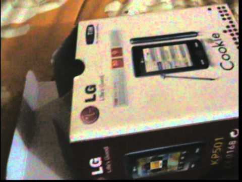 unboxing cookie lg kp 501