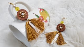DIY :how to make beautiful trendy ear rings at home?~hand made ear rings tutorial~nayla zehra