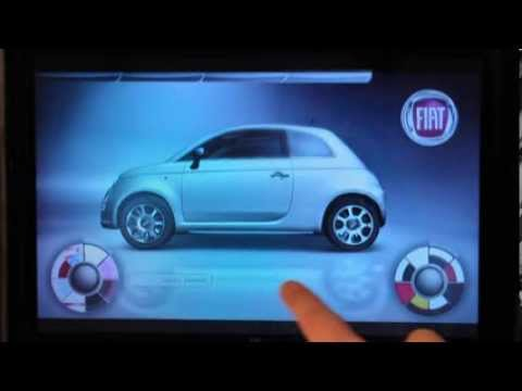 touchscreen fiat 500 configurator - youtube