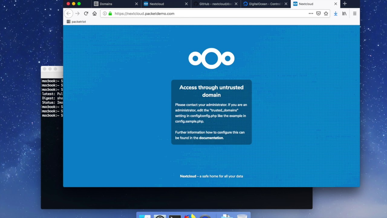 Setup Nextcloud quickly and securely with Packetriot