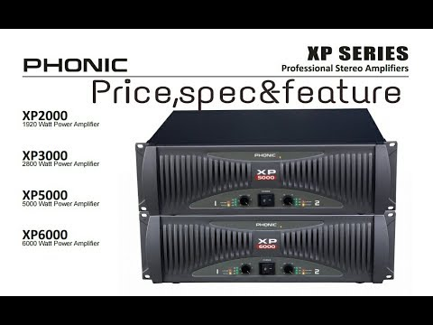Phonic xp series power Amplifiers price,spec&details - YouTube