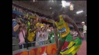 Usain Bolt 100m 9.69 ( LIVE VIDEO ) Beijing Olympic Gold & WR